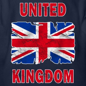 united kingdom grunge flag Shirts - Organic Short-sleeved Baby Bodysuit
