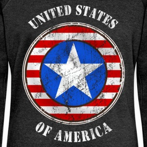 united states grunge style T-Shirts - Women's Boat Neck Long Sleeve Top