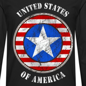 united states grunge style Tee shirts - T-shirt manches longues Premium Homme