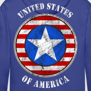 united states grunge style Tee shirts - Sweat-shirt à capuche Premium pour hommes