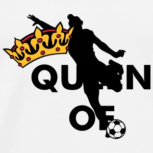 Crown / Queen of womens soccer Caps & Hats - Men's Premium T-Shirt