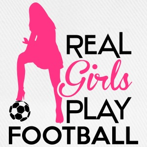 Real Girls play football Långärmade T-shirts - Basebollkeps