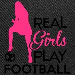 Real Girls play football Sweat-shirts - Casquette snapback