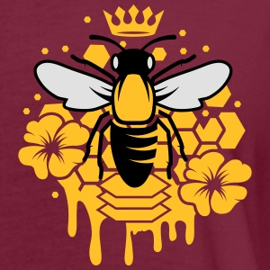 A bee with a crown Polo Shirts - Women's Oversize T-Shirt