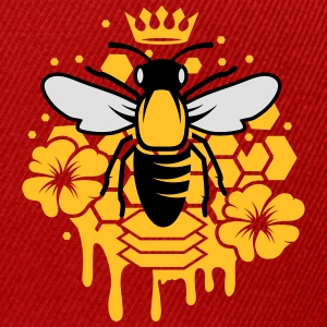 A bee with a crown Polo Shirts - Snapback Cap