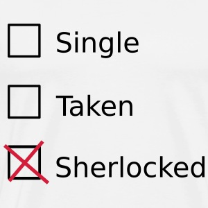 Single Taken Sherlocked Langærmede t-shirts - Herre premium T-shirt