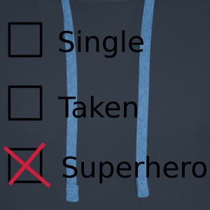 Single Taken Superhero T-shirts - Herre Premium hættetrøje