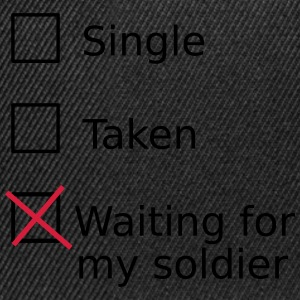 Single Taken Waiting for my soldier Sweaters - Snapback cap