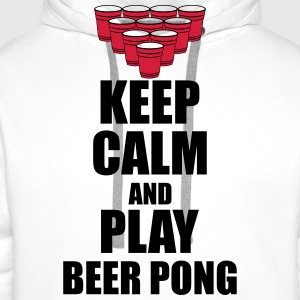 Keep calm and beer pong Koszulki - Bluza męska Premium z kapturem