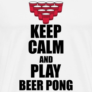Keep calm and beer pong Tank Tops - Men's Premium T-Shirt