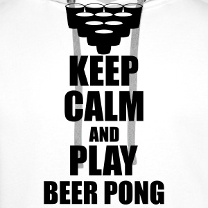 Keep calm and play beer p Koszulki - Bluza męska Premium z kapturem