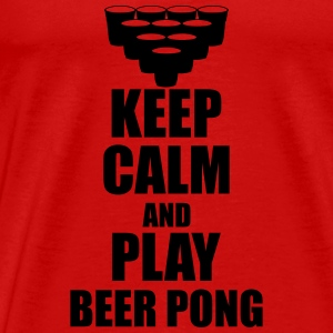 Keep calm and play beer p Tank Tops - Men's Premium T-Shirt