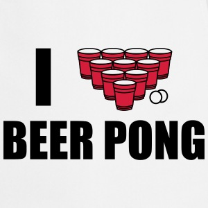 I love beer pong T-Shirts - Cooking Apron