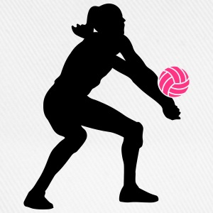 Volleyball Girl T-Shirts - Baseballkappe