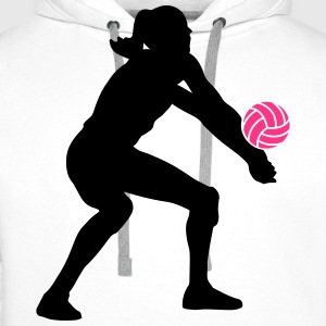 Volleyball Girl Tee shirts - Sweat-shirt à capuche Premium pour hommes