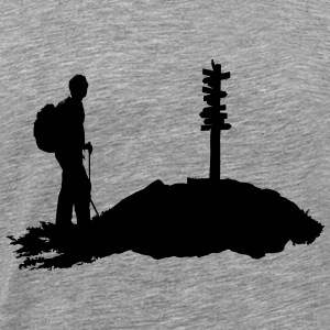 Hiking, hiker - Men's Premium T-Shirt