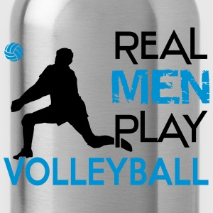 Real Men play Volleyball Shirts - Water Bottle