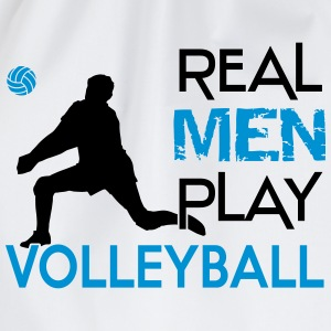 Real Men play Volleyball Tee shirts - Sac de sport léger