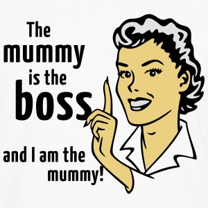 The mummy is the boss and I am the mummy!  Aprons - Men's Premium Longsleeve Shirt