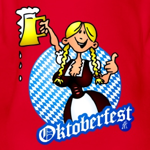 Oktoberfest - girl in a dirndl Shirts - Organic Short-sleeved Baby Bodysuit