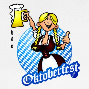 Oktoberfest - girl in a dirndl Bottles & Mugs - Baseball Cap