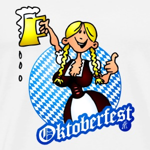 Oktoberfest - girl in a dirndl Bottles & Mugs - Men's Premium T-Shirt