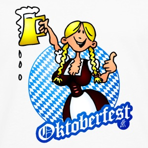 Oktoberfest - girl in a dirndl Bottles & Mugs - Men's Premium Longsleeve Shirt