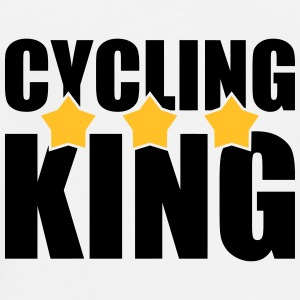 Cycling King Flessen & bekers - Mannen Premium T-shirt