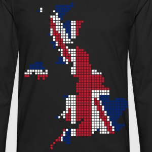 UK pixelated flag digital T-Shirts - T-shirt manches longues Premium Homme