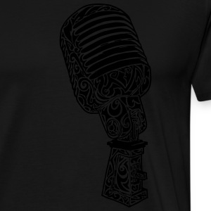 Tribal Old school Microphone Pullover & Hoodies - Männer Premium T-Shirt