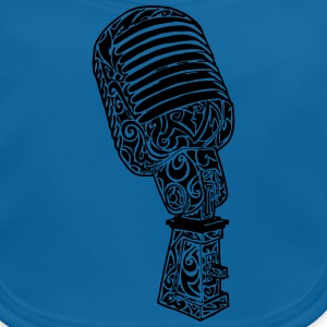 Tribal Old school Microphone T-Shirts - Baby Bio-Lätzchen