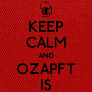 Keep Calm and Ozapft Is - Oktoberfest outfit Sportbekleidung - Snapback Cap