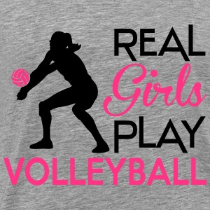 Real girls play Volleyball Tops - Männer Premium T-Shirt