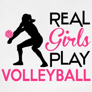 Real girls play Volleyball Pullover & Hoodies - Baseballkappe