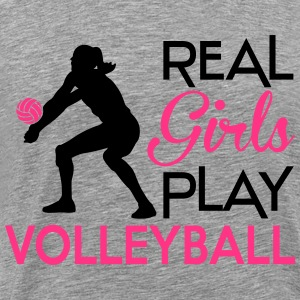 Real girls play Volleyball Sweat-shirts - T-shirt Premium Homme