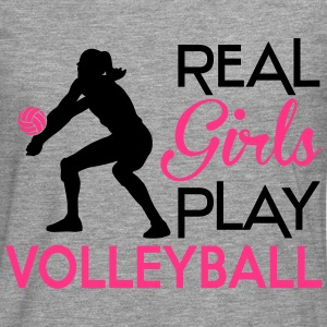 Real girls play Volleyball Sweat-shirts - T-shirt manches longues Premium Homme