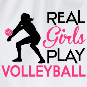 Real girls play Volleyball Camisetas - Mochila saco
