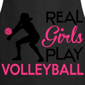 Real girls play Volleyball T-Shirts - Cooking Apron