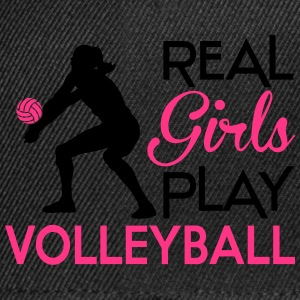 Real girls play Volleyball T-Shirts - Snapback Cap