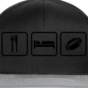 Eat Sleep American Football Sudaderas - Gorra Snapback