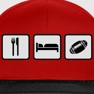 Eat Sleep American Football Camisetas - Gorra Snapback