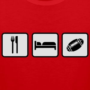 Eat Sleep American Football Camisetas - Tank top premium hombre