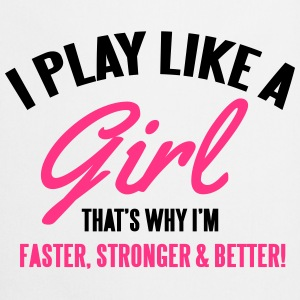 I play like a girl. That's why I'm faster Bags & Backpacks - Cooking Apron