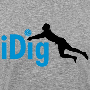 Volleyball: iDig Long Sleeve Shirts - Men's Premium T-Shirt