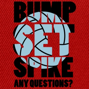 Volleyball: BUMP SET SPIKE - ANY QUESTIONS? Topy - Czapka typu snapback