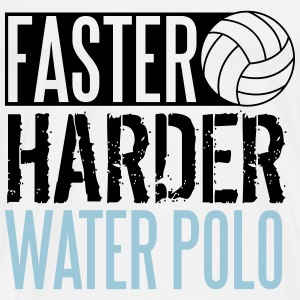 Faster, harder, water polo Tops - Männer Premium T-Shirt