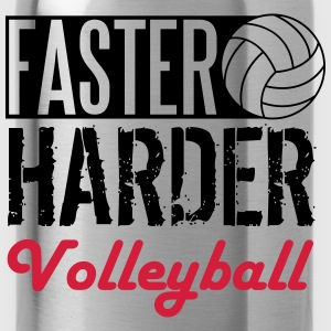 Faster, harder, Volleyball Shirts - Water Bottle
