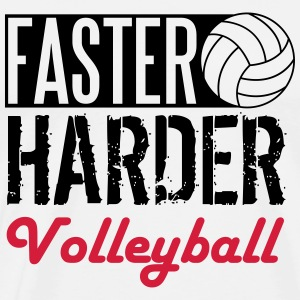 Faster, harder, Volleyball Débardeurs - T-shirt Premium Homme