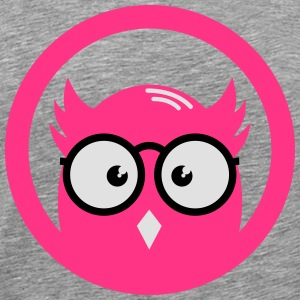 OWL met bril in het district Shirts met lange mouwen - Mannen Premium T-shirt