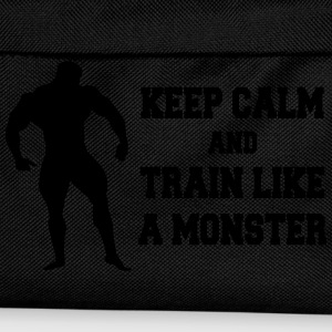 Keep Calm an train like a monster Sweatshirts - Rygsæk til børn